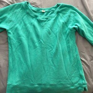 Green wide neck J. Crew sweatshirt